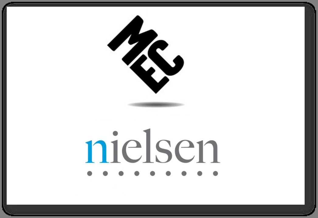 Logo MEC oraz logo AGB Nielsen