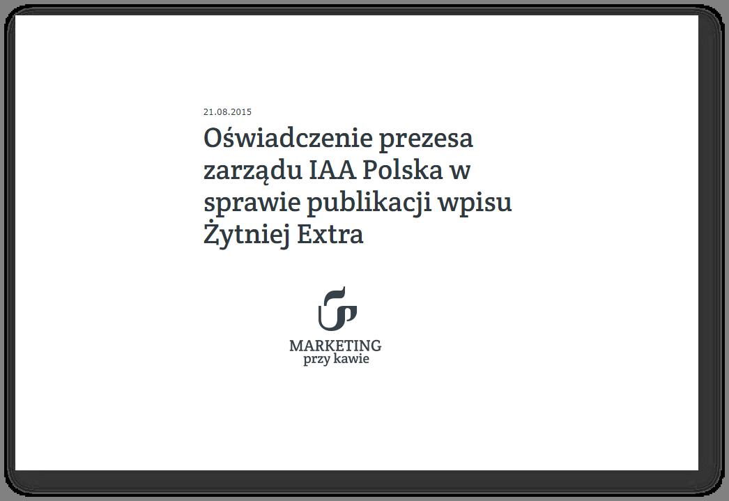 Oświadczenie IAA Polska _publikacja MPK