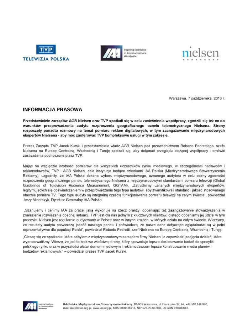 Oświadczenie Nielsen TVP